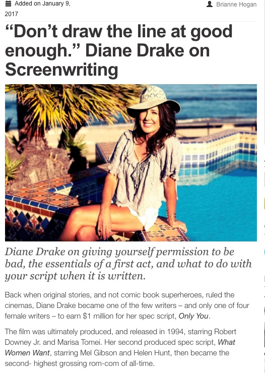 """Don't draw the line at good enough"" – My new interview with Creative Screenwriting.com"
